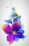 Arte hermoso del fondo de la flor del vector Fotografía de archivo libre de regalías