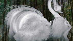 Arte hermoso del pavo real Imagen de archivo