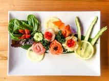 Arte hermoso del sushi Fotografía de archivo
