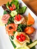 Arte hermoso del sushi Foto de archivo libre de regalías