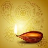 Arte hindú hermoso del festival del diwali Foto de archivo