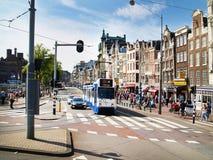 A arte holandesa de Amsterdame colore a arquitetura imagens de stock royalty free