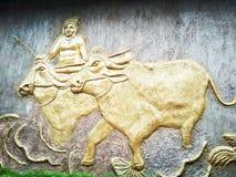 Arte indiana da parede Fotografia de Stock
