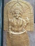 Arte indiana da parede fotografia de stock royalty free