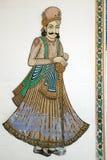 Arte indiana della parete Fotografia Stock Libera da Diritti