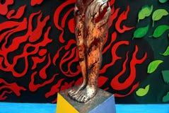 Arte indiana durante il festival di Durga Fotografia Stock