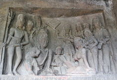 Arte indiana nas paredes Foto de Stock