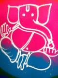 Arte indiana Rangoli do assoalho Imagem de Stock