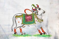 Arte indio de la pared imagenes de archivo