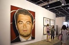 Arte internacional de Hong Kong justa: Galeria do retrato imagens de stock royalty free