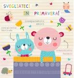 Arte italiana della parete della scuola materna Fotografia Stock Libera da Diritti