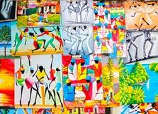 Arte jamaicano del Caribe colorido   Foto de archivo libre de regalías