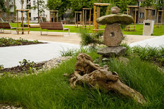Arte japonés del jardín Imagenes de archivo