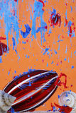 Arte líquida abstrata fotografia de stock