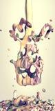 Arte líquido surrealista abstracto Fotos de archivo libres de regalías