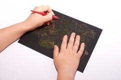 Las manos de los niños Foto de archivo libre de regalías