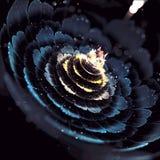 Arte leggera di frattale della fioritura del fiore Fotografia Stock Libera da Diritti