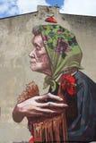 Arte Lodz murala, Polonia della via fotografia stock