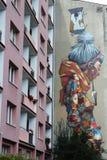 Arte Lodz murala, Polonia della via fotografia stock libera da diritti