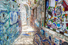 Arte mágica da rua dos jardins, Philadelphfia, Pensilvânia Fotografia de Stock Royalty Free