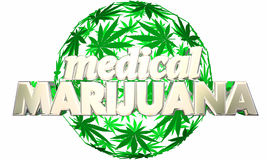 Arte médico de la esfera de la marijuana Ilustración del Vector