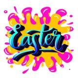 Arte a mano-letering Pasqua di graffity di vettore Fotografia Stock