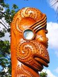 Arte maorí de la escultura Foto de archivo libre de regalías