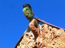 Arte maorí de la escultura Imagen de archivo