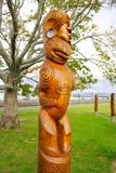 Arte maorí de la escultura Imagen de archivo libre de regalías