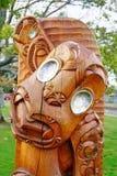 Arte maori da escultura Fotografia de Stock Royalty Free