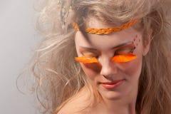 Arte. Maquillaje de la manera de Face.Creative Fotos de archivo