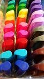 Arte: Marcadores coloridos Foto de archivo libre de regalías