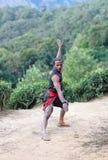 Arte marcial de Kalaripayattu en Kerala, la India del sur Fotografía de archivo