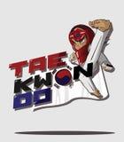 Arte marcial de Taekwondo ilustração royalty free