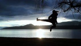 Arte marcial praticando Foto de Stock