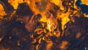Arte marrón anaranjado del fondo de la pintura acrílica del extracto imagen de archivo