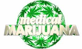 Arte medica della sfera della marijuana illustrazione vettoriale