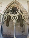 Arte medieval en abadía vieja de la montaña Fotos de archivo