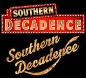 Arte meridional de la palabra de la carpa de New Orleans de la decadencia Foto de archivo