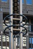 Arte metropolitana da construção do governo do Tóquio de Japão fotografia de stock