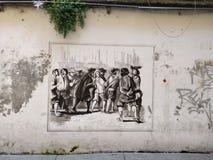 Arte Milão da rua Fotografia de Stock