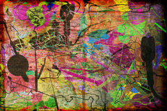 Arte moderna abstrata Textured Fotografia de Stock