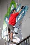 Arte moderna da parede foto de stock