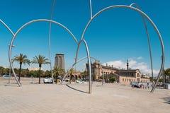 Arte moderna em Barcelona Imagens de Stock Royalty Free