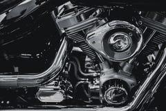 Arte moderna luxuosa de Chopper Engine do cromo foto de stock royalty free