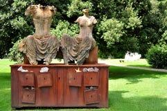 Arte moderna: os imperturbables por Ugo Riva em Florença imagem de stock