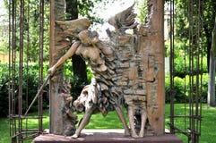 Arte moderna pelo escultor Ugo Riva em Florença, Itália fotos de stock royalty free