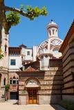 Arte Modernista Catalan. Church of LLoret de Mar Catalan Modernisme Stock Photo