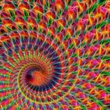 Arte moderno de Digitaces de la llama del alambre del fractal foto de archivo libre de regalías