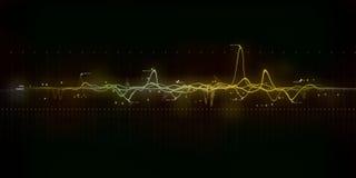 Arte moderno de la onda acústica Imágenes de archivo libres de regalías